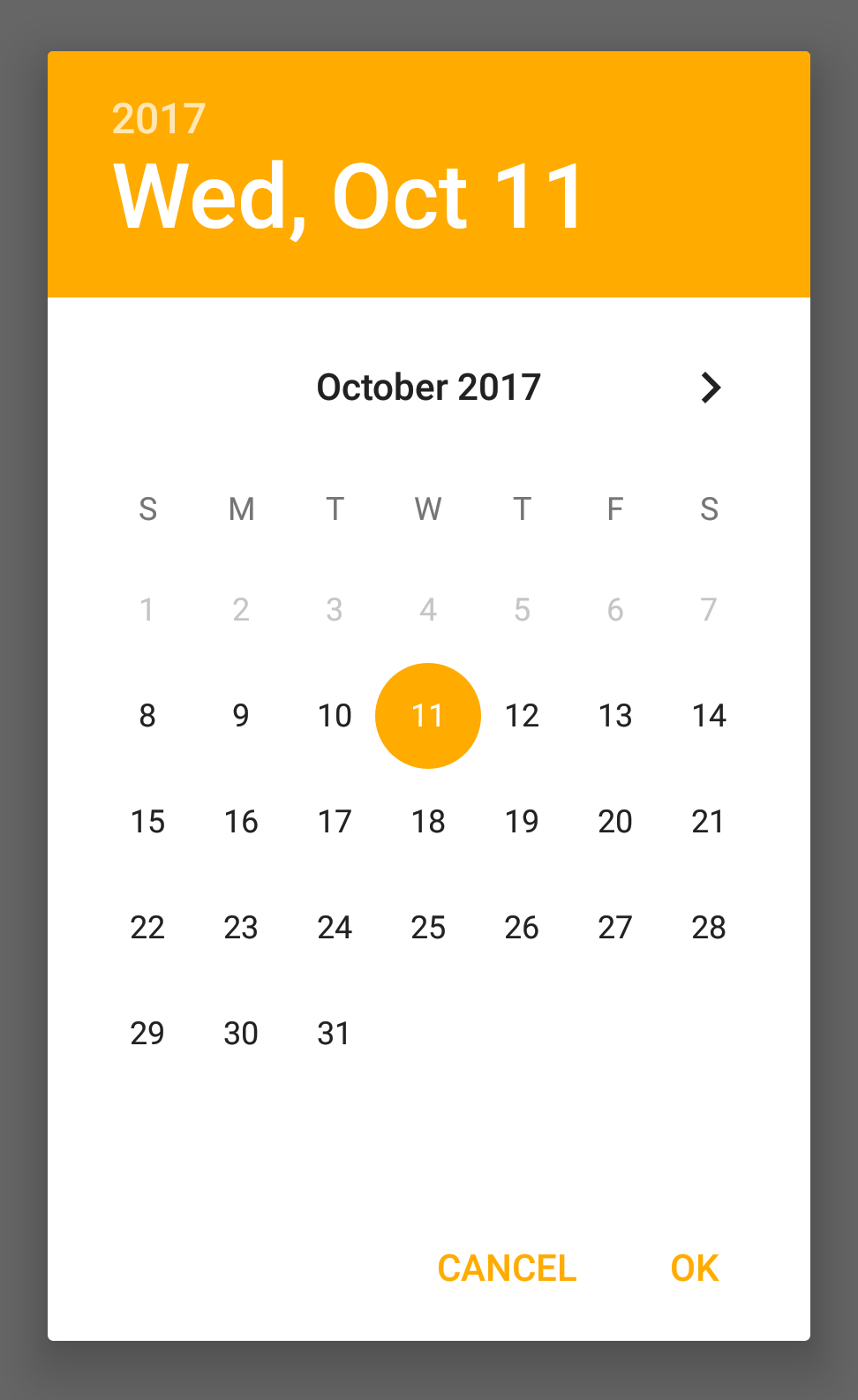 DateDialog on Android