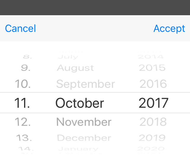 DateDialog on iOS